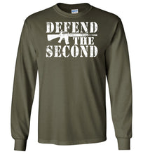 Load image into Gallery viewer, Defend the Second Long Sleeve T-Shirt in Military Green