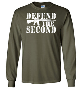 Defend the Second Long Sleeve T-Shirt in Military Green