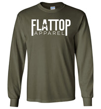 Load image into Gallery viewer, Modern FTA Logo Long Sleeve T-Shirt in Military Green