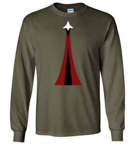 Space Force Physical Training Long Sleeve T-Shirt in Military Green