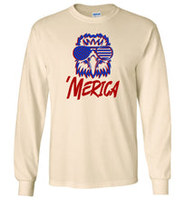 Load image into Gallery viewer, Spiked Merica Eagle Longsleeve T-Shirt
