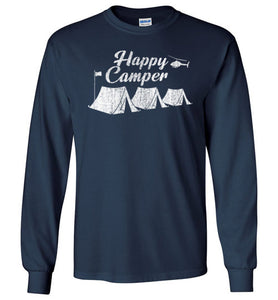 Happy Camper Long Sleeve T-Shirt in Navy