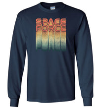 Load image into Gallery viewer, Rainbow Space Force Long Sleeve T-Shirt in Navy