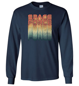 Rainbow Space Force Long Sleeve T-Shirt in Navy