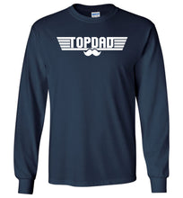 Load image into Gallery viewer, Top Dad Long Sleeve T-Shirt in Navy