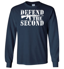 Load image into Gallery viewer, Defend the Second Long Sleeve T-Shirt in Legion Blue