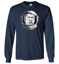 Load image into Gallery viewer, Trump Space Helmet Long Sleeve T-Shirt in Navy