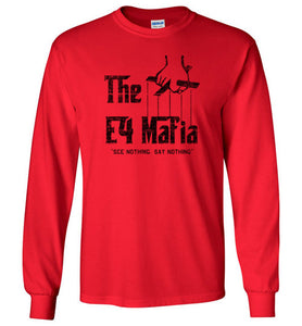 E-4 Mafia Long Sleeve T-Shirt in Red