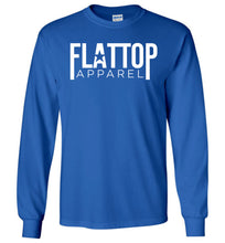 Load image into Gallery viewer, Modern FTA Logo Long Sleeve T-Shirt in Royal Blue