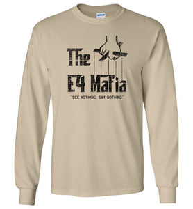 E-4 Mafia Long Sleeve T-Shirt in Sand