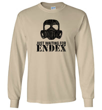 Load image into Gallery viewer, Just Waiting For ENDEX Long Sleeve T-Shirt in Sand