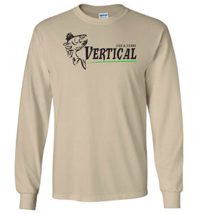 Vertical Jigs and Lures Logo Long Sleeve T-Shirt in Sand