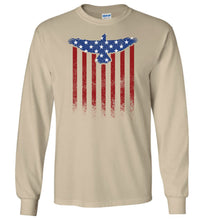 Load image into Gallery viewer, Star Spangled Eagle Flag Long Sleeve T-Shirt in Sand