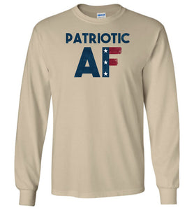 Patriotic AF Long Sleeve T-Shirt in Sand