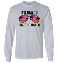 Load image into Gallery viewer, Buzz the Tower Long Sleeve T-Shirt in Sports Grey