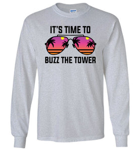 Buzz the Tower Long Sleeve T-Shirt in Sports Grey