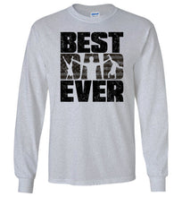 Load image into Gallery viewer, Best Dad Ever Long Sleeve T-Shirt in Sports Grey