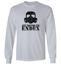 Load image into Gallery viewer, Just Waiting For ENDEX Long Sleeve T-Shirt in Sports Grey