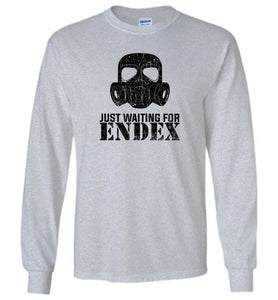 Just Waiting For ENDEX Long Sleeve T-Shirt in Sports Grey