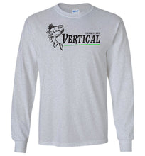 Load image into Gallery viewer, Vertical Jigs and Lures Logo Long Sleeve T-Shirt in Sports Grey