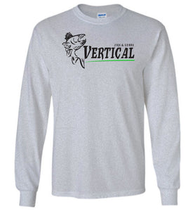 Vertical Jigs and Lures Logo Long Sleeve T-Shirt in Sports Grey