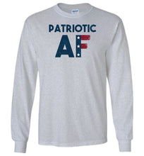 Load image into Gallery viewer, Patriotic AF Long Sleeve T-Shirt in Sports Grey