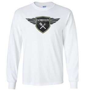 Father Elite Long Sleeve T-Shirt in White