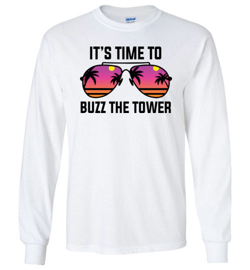Buzz the Tower Long Sleeve T-Shirt in White