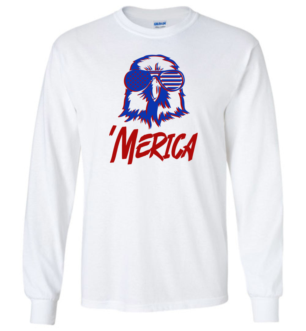 Slick Merica Eagle Long Sleeve T-Shirt