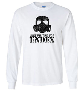 Just Waiting For ENDEX Long Sleeve T-Shirt in White