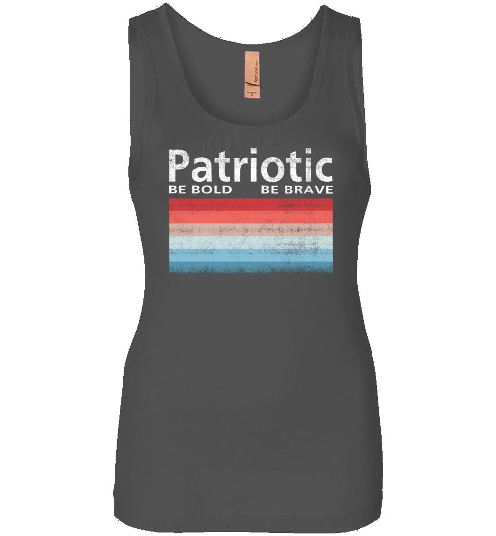 Patriotic Polaroid Women's Tank in Dark Grey