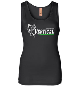 Vertical Jigs and Lures Logo Women's Tank in Black
