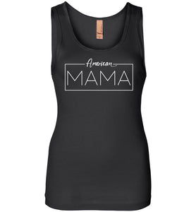 American Mama Women's Tank in Black