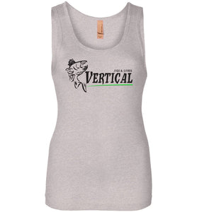 Vertical Jigs and Lures Logo Women's Tank in Light Heather Grey
