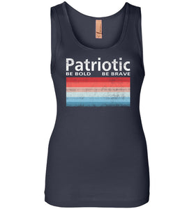 Patriotic Polaroid Women's Tank in Midnight Navy