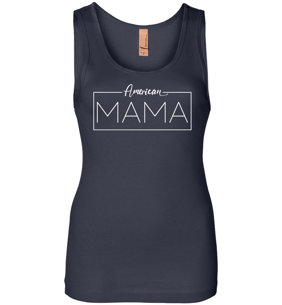 American Mama Women's Tank in Midnight Navy Blue
