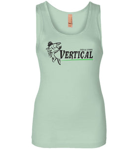 Vertical Jigs and Lures Logo Women's Tank in Mint
