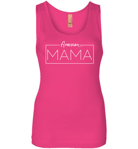 American Mama Women's Tank in Raspberry