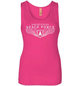 Space Force Wings Women's Tank in Raspberry