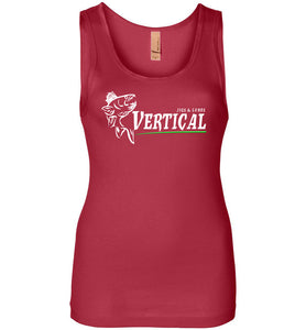 Vertical Jigs and Lures Logo Women's Tank in Red