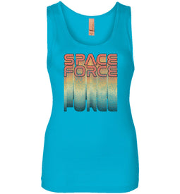 Rainbow Space Force Women's Tank in Turquoise
