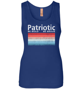 Patriotic Polaroid Women's Tank in Royal Blue