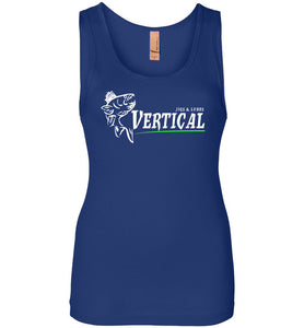 Vertical Jigs and Lures Logo Women's Tank in Royal Blue