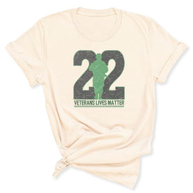 Twenty-Two Lives Matter Women's T-Shirt in Soft Cream