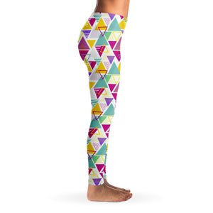 90's Retro Oldschool v2 Women's Leggings Right Side Model