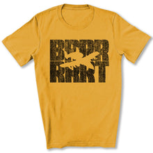 Load image into Gallery viewer, A-10 Warthog BRRRRT T-Shirt in Gold