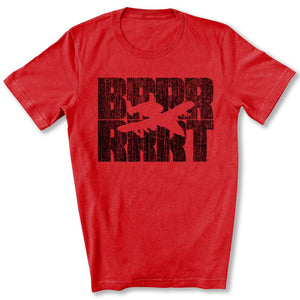 A-10 Warthog BRRRRT T-Shirt in Red