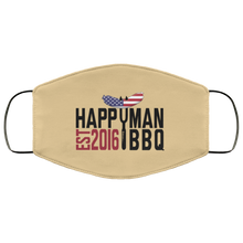 Load image into Gallery viewer, Patriotic HappyMan BBQ Face Mask in Tan