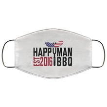 Load image into Gallery viewer, Patriotic HappyMan BBQ Face Mask in White