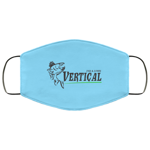 Vertical Jigs Face Mask in Columbia Blue